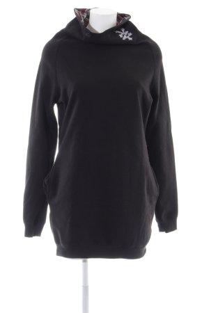 Zoo york Robe pull noir imprimé allover style décontracté