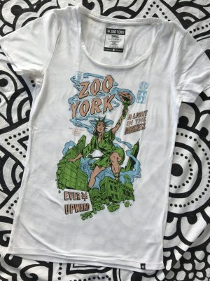 Zoo York T-Shirt Gr. S weiß New York Miss Liberty