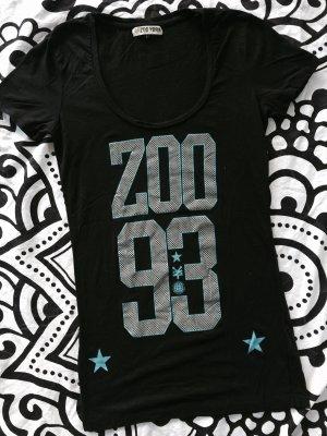Zoo York T-Shirt Gr. XS schwarz rundhals Frontprint