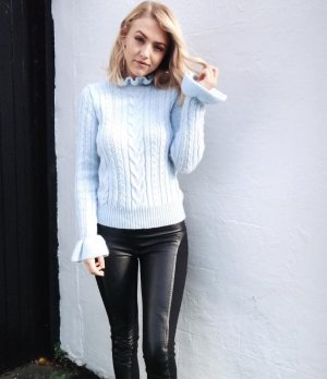 H&M Cable Sweater azure