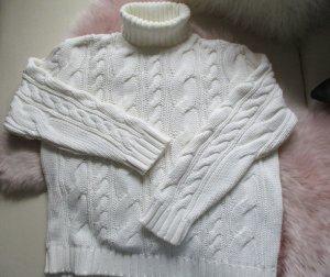Burnetto Pull à gosses mailles blanc coton