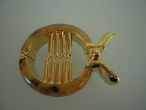 Molletta per capelli cognac-oro Materiale sintetico