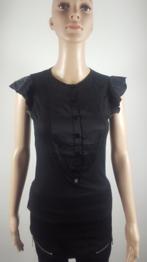 zu+elements Mouwloze blouse zwart Zijde