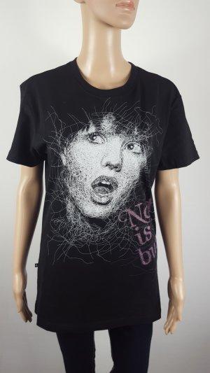 Zu+Elements Damen Shirt mit Print T-Shirt schwarz Größe M Baumwolle NEU