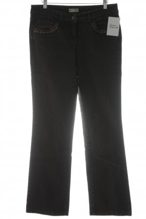 Zucchero Boot Cut Jeans schwarz-bronzefarben Street-Fashion-Look