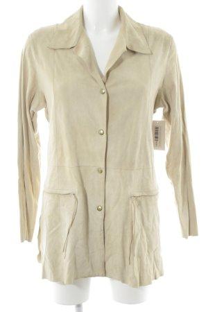 Zucchero Lederjacke beige Vintage-Look