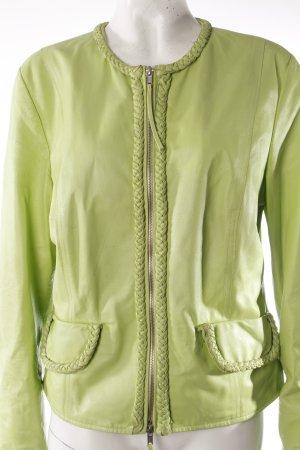 Zucchero leather jacket light green