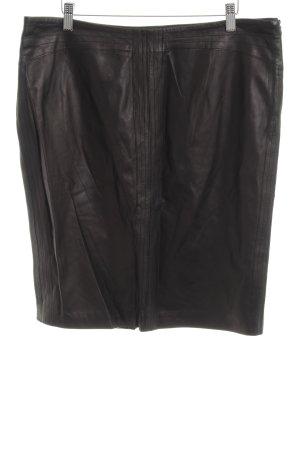 Zucchero Leather Skirt brown elegant