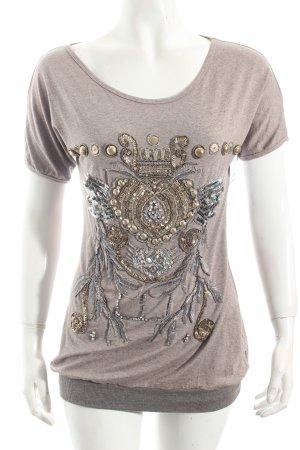 Zucchero Shirt graubraun Casual-Look
