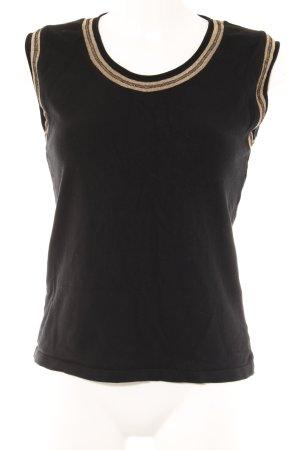 Zucchero T-Shirt schwarz-goldfarben Casual-Look
