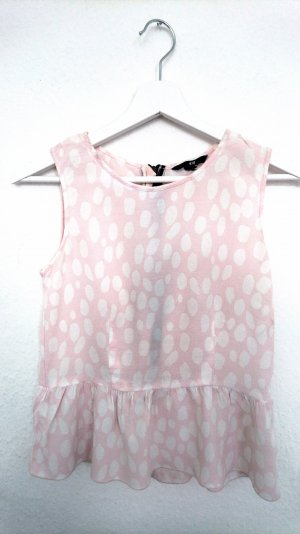 H&M Empire Waist Top light pink synthetic