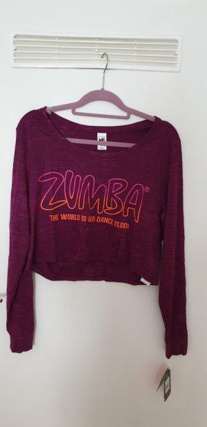 Zumba Fitness Cropped Shirt violet-dark violet