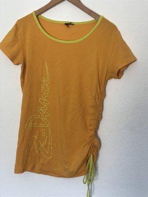 T-shirt de sport orange clair-jaune