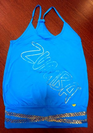 ZUMBA Fitness Top mit Goldverzierung