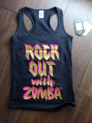 Zumba Fitness Blusa sin espalda multicolor