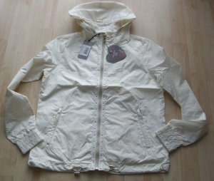 Guess Raincoat natural white polyester