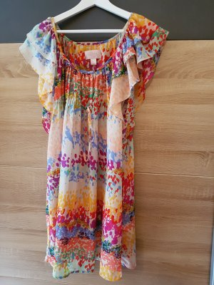 H&M Garden Collection Flounce Dress multicolored