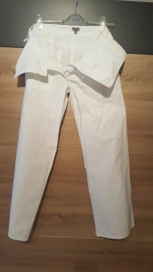 Oasis Pantalon en jersey blanc coton