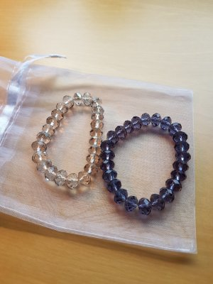 Bracelet blanc-violet
