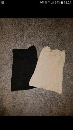 Tally Weijl Top a fascia nero-beige chiaro