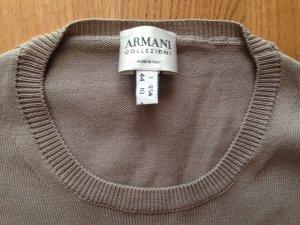 Armani Collezioni Jersey sin mangas beige claro-marrón grisáceo