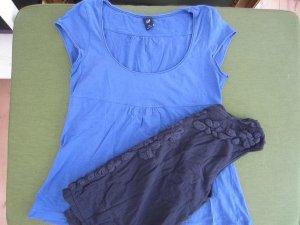 Zwei Blaue Sommershirts (GAP und Mangeo)