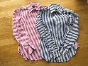 Zwei Blusen Ralph gestreift Lauren Größe 36, pink und blau, super Zustand!