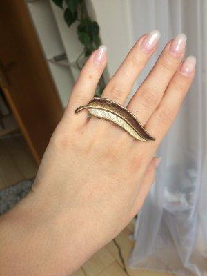Zwei-Finger-Ring Gold