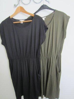 zwei H&M Sommerkleider in der Farbe schwaz und khaki