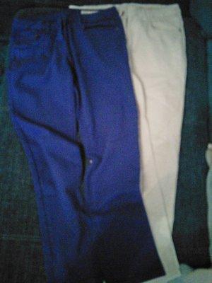 Blue Motion Pantalon strech blanc-bleuet