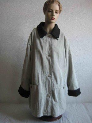 Manteau oversized beige clair-gris anthracite coton