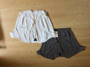 Zwei MANGO Strickjacken, Weiß & Grau, Gr. S