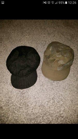 Cappellino nero-grigio-verde