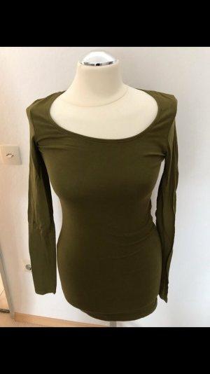 Camisa larga gris-verde oliva