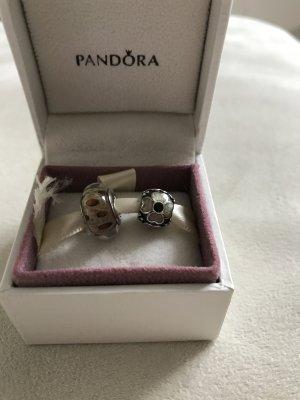 Zwei Pandora Charms (Murano & Blume), TOP Zustand