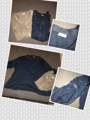 Zwei schöne gepunktete Blusen