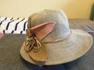Chapeau de soleil crème-argenté