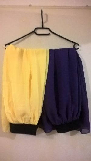 zwei süße chiffon maxi Röcke, dunkel lila u. gelb, Größe 36/38, NEU