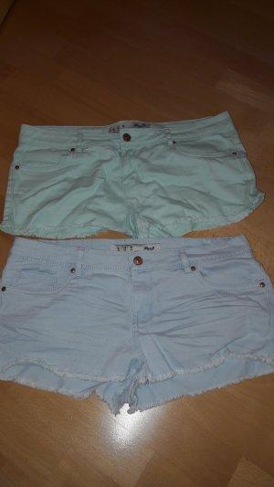 Primark Shorts baby blue-azure cotton