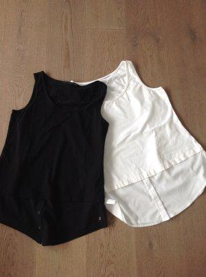 Zwei Tops zum Unterziehen in ecru und schwarz