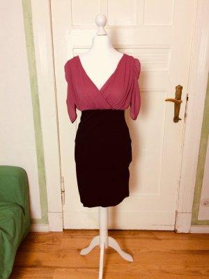 Zweifarben Kleid pink/schwarz