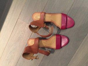Zweifarbige Keilabsatz Sandale von Nine West