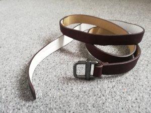 Asos Cinturón de cadera blanco-marrón