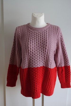 Boden Coarse Knitted Sweater pink-red