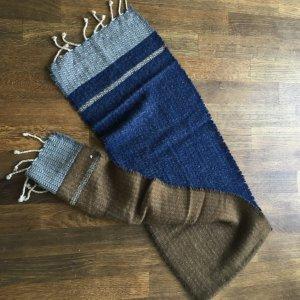 Sciarpa blu-marrone-grigio