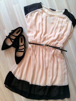 Zweifarbiges doppellagiges Kleid