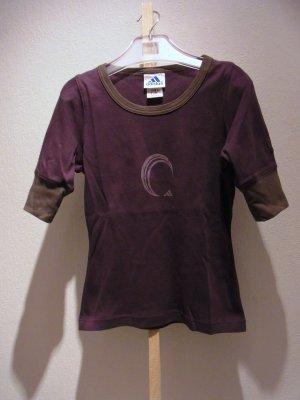 Zweifarbiges Halbarm Shirt mit Frontlogo