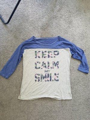 zweifarbiges Shirt mit Print