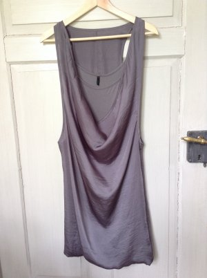 United Colors of Benetton Balloon Dress grey viscose