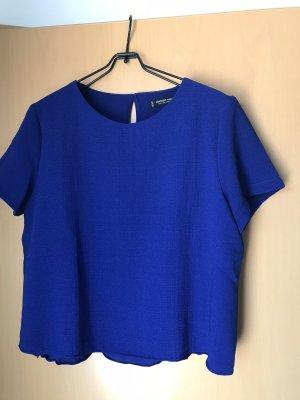 H&M Camisa recortada azul